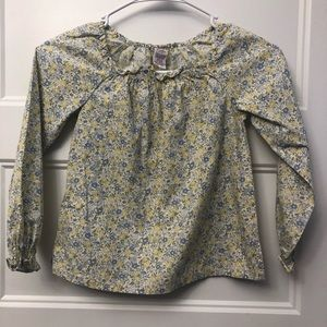 Gymboree top size 6 flowered blue and yellow